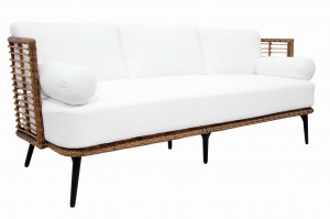 Ażurowa sofa technorattan Covelo