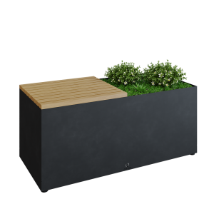 Herb Garden Bench Black