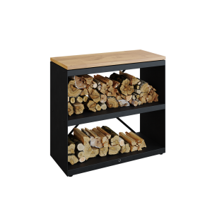Wood Storage Dressoir Black