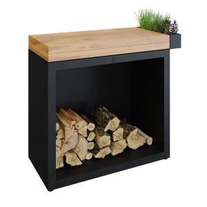 Butcher Block Storage Black