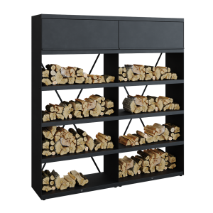 Wood Storage Black 200